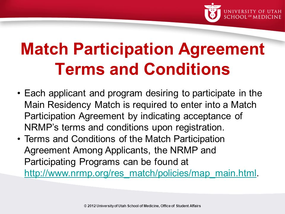 Match Participation Agreement Terms and Conditions