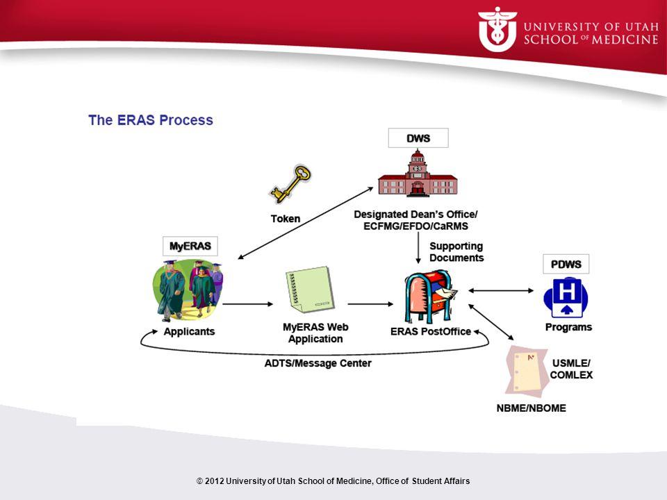 © 2012 University of Utah School of Medicine, Office of Student Affairs
