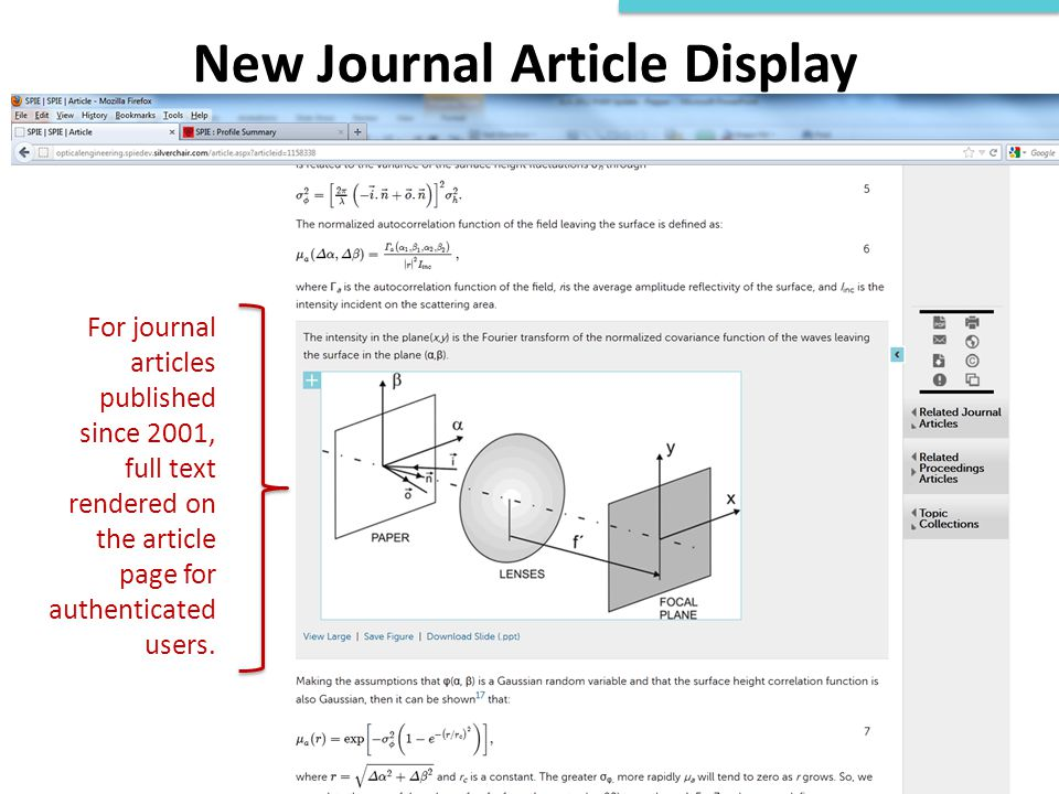 New Journal Article Display