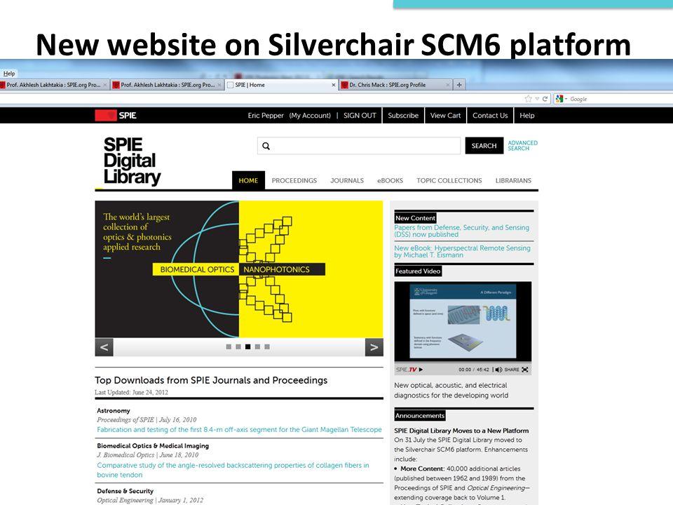 New website on Silverchair SCM6 platform