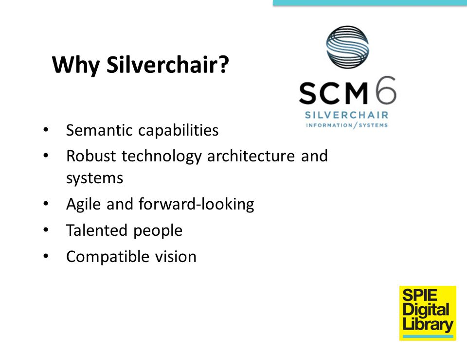 Why Silverchair Semantic capabilities