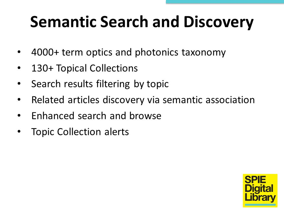 Semantic Search and Discovery