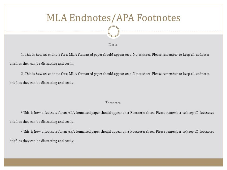 mla footnotes