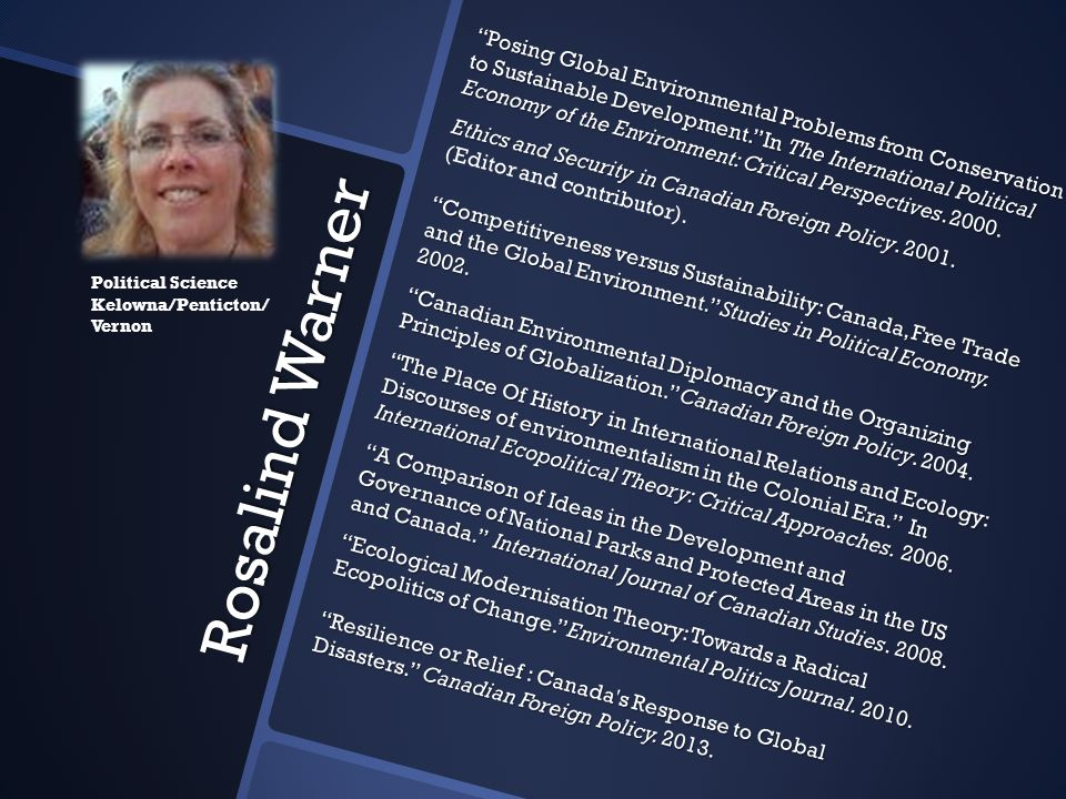 Posing Global Environmental Problems from Conservation to Sustainable Development. In The International Political Economy of the Environment: Critical Perspectives. 2000.