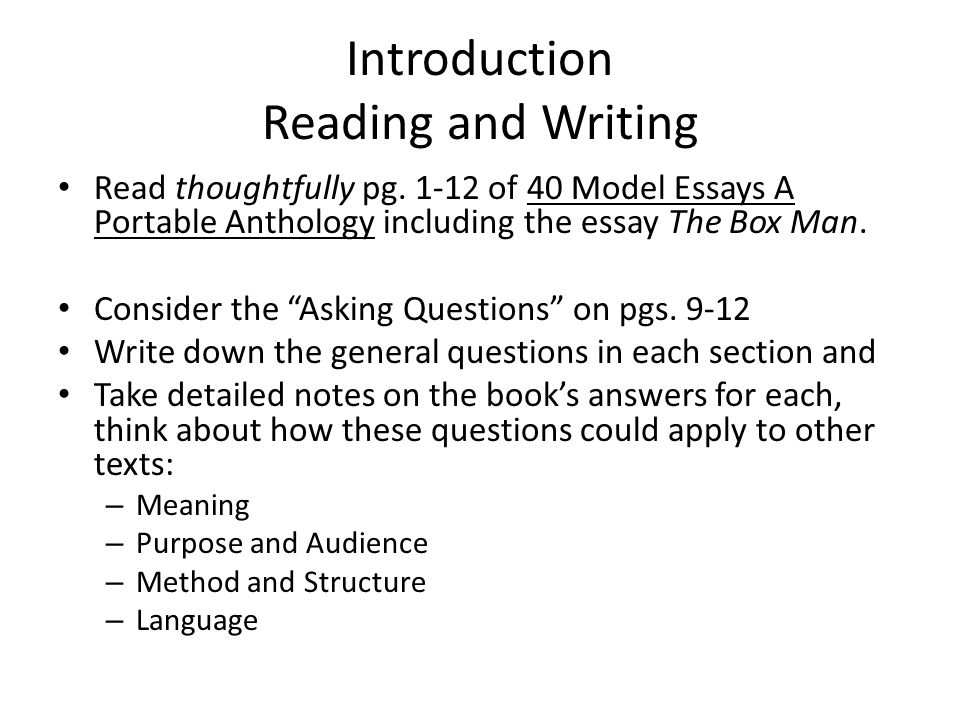 Topic English Essay Introduction Reading And Writing The Kite Runner Essay Thesis also Proposal Argument Essay Introduction Reading And Writing  Ppt Video Online Download Romeo And Juliet English Essay
