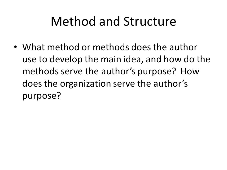 Method and Structure