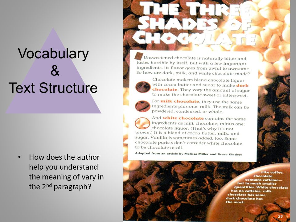 Vocabulary & Text Structure