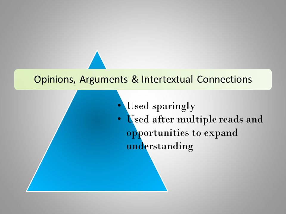 Opinions, Arguments & Intertextual Connections