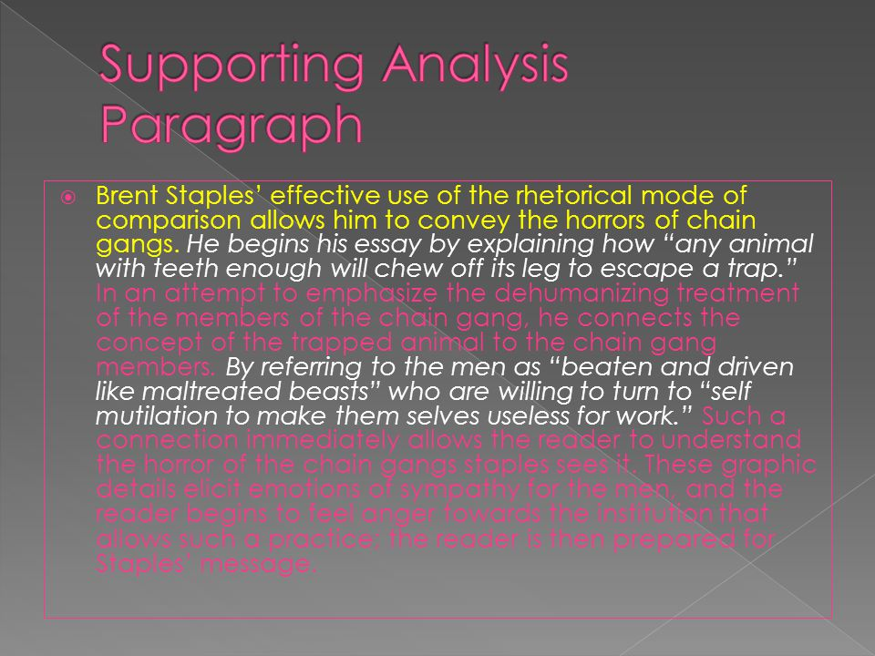 Supporting Analysis Paragraph