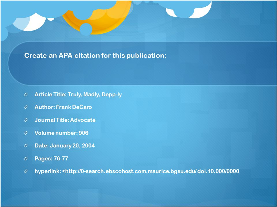 Create an APA citation for this publication:
