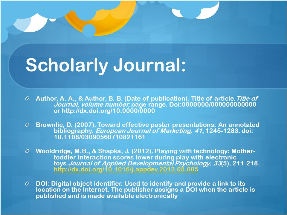 Scholarly Journal: