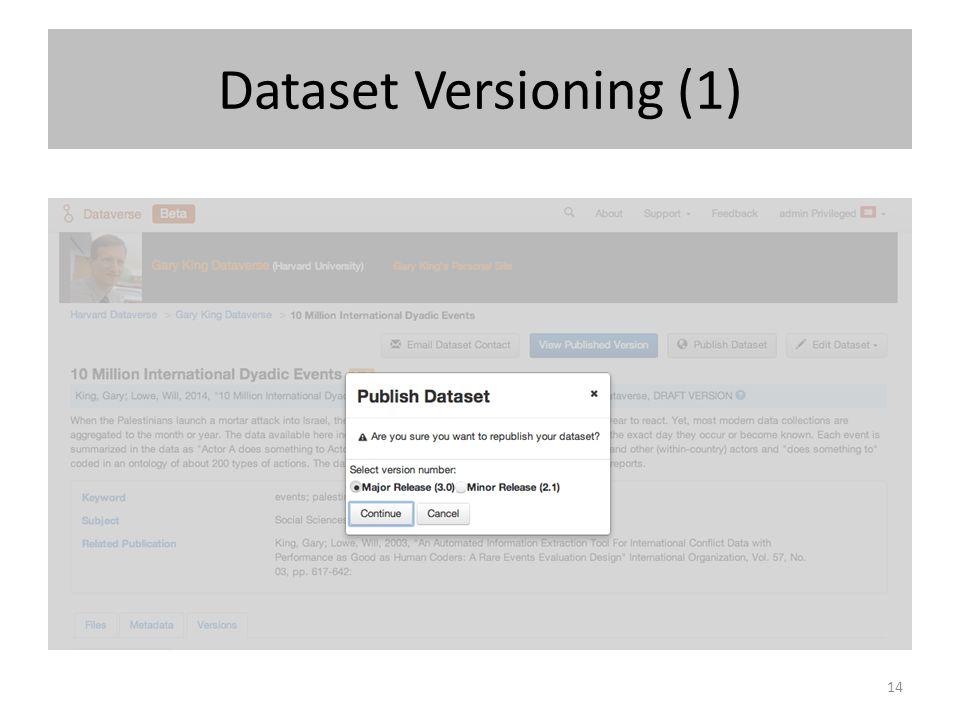 Dataset Versioning (1)