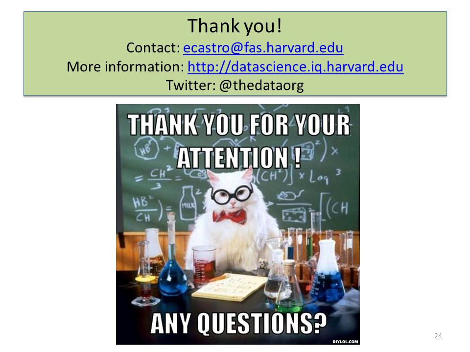 Thank you! Contact: ecastro@fas.harvard.edu