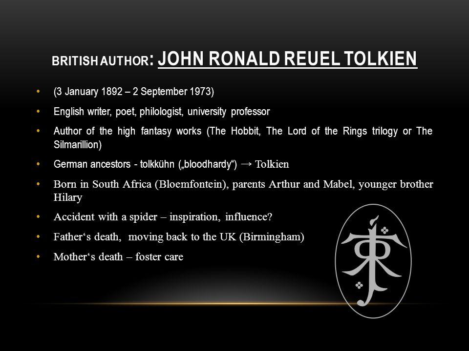 British author: John ronald reuel tolkien