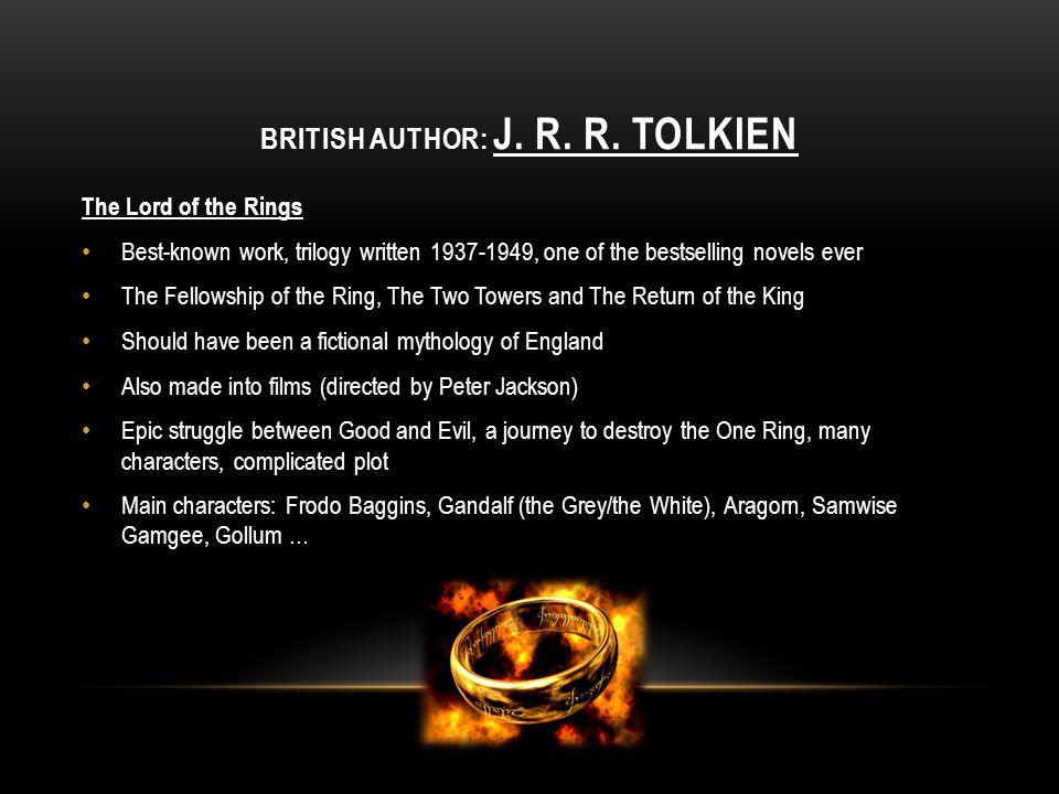British author: J. r. r. tolkien