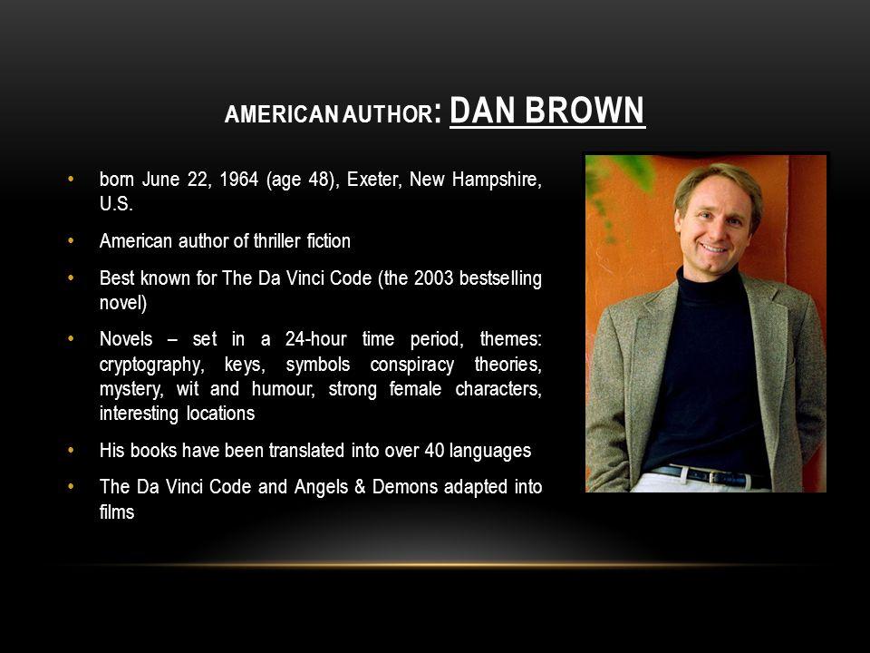 American author: Dan Brown