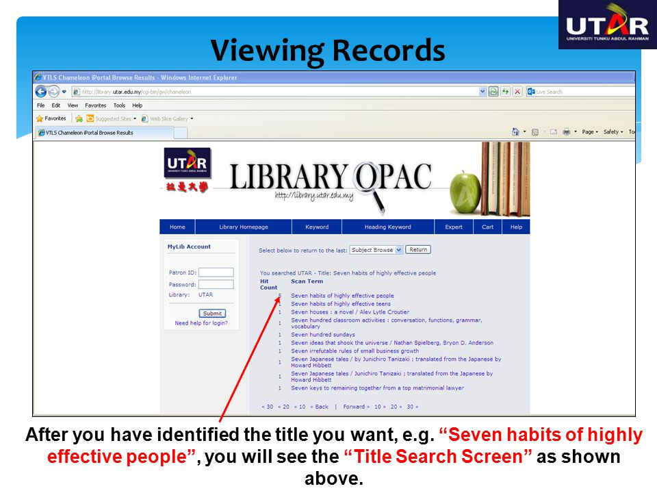 Viewing Records