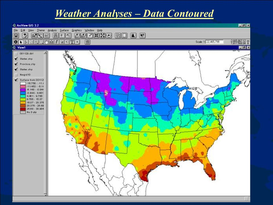 Weather Analyses – Data Contoured