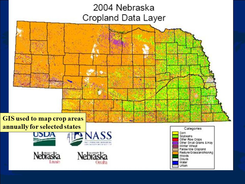 GIS used to map crop areas