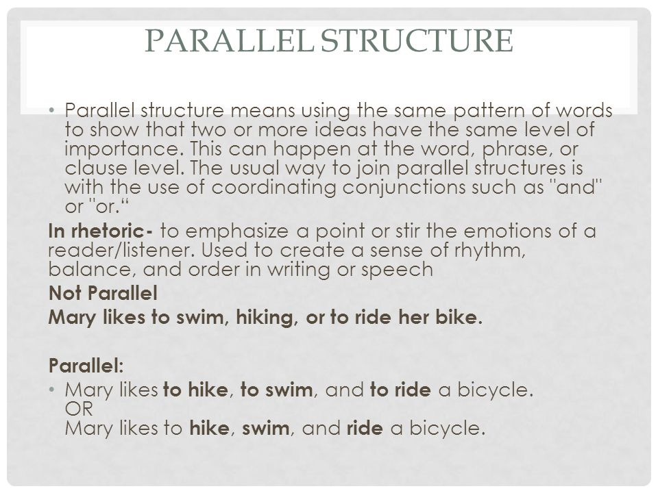 Parallel Structure