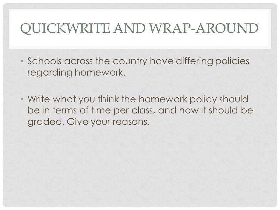 Quickwrite and wrap-around