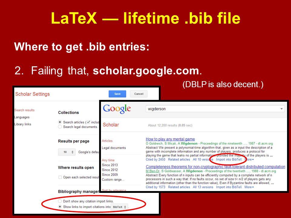 LaTeX — lifetime .bib file