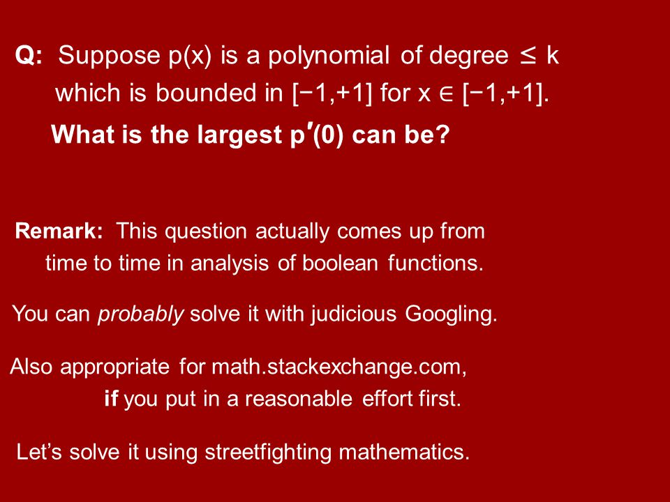 What is the largest p′(0) can be