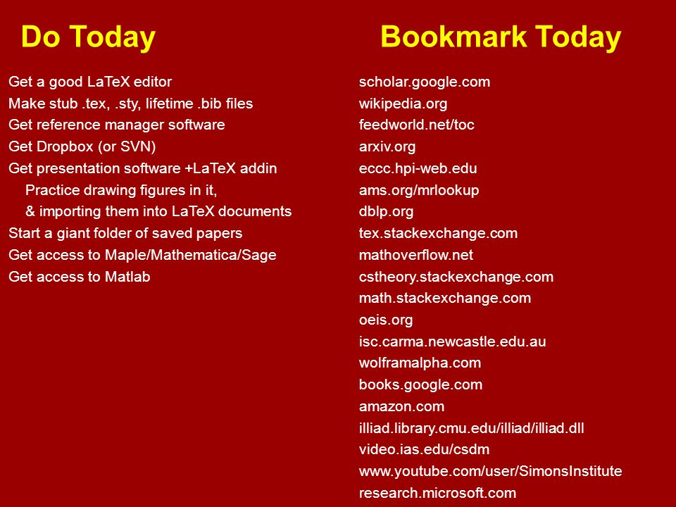 Do Today Bookmark Today