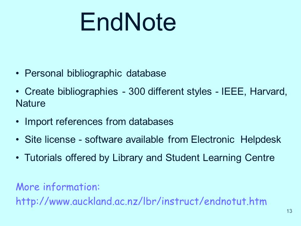 EndNote Personal bibliographic database
