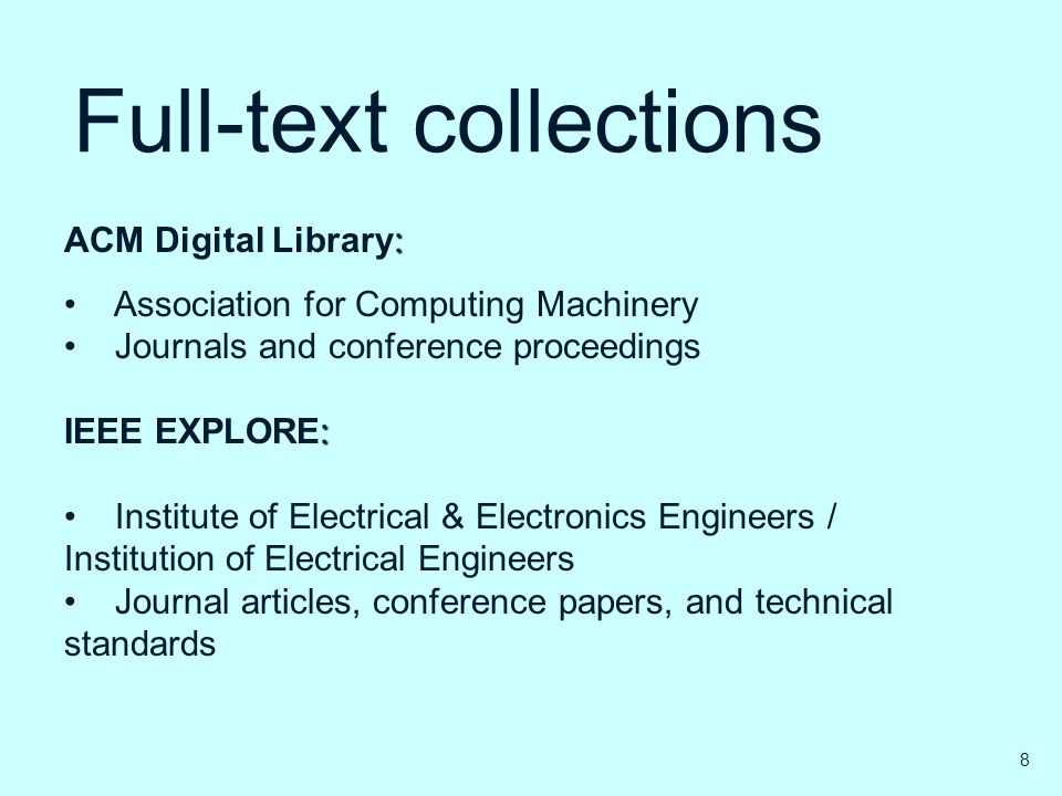 Full-text collections