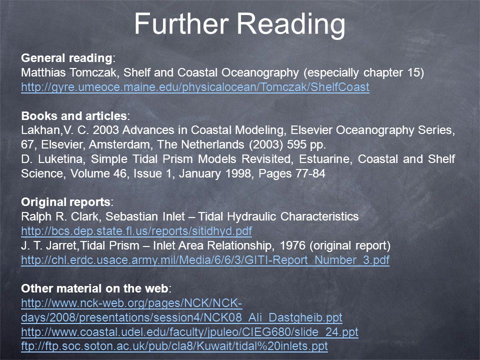 Further Reading General reading: