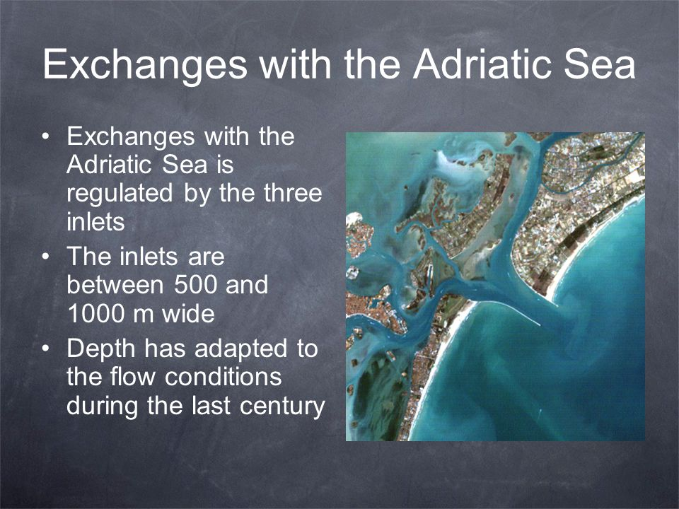 Exchanges with the Adriatic Sea