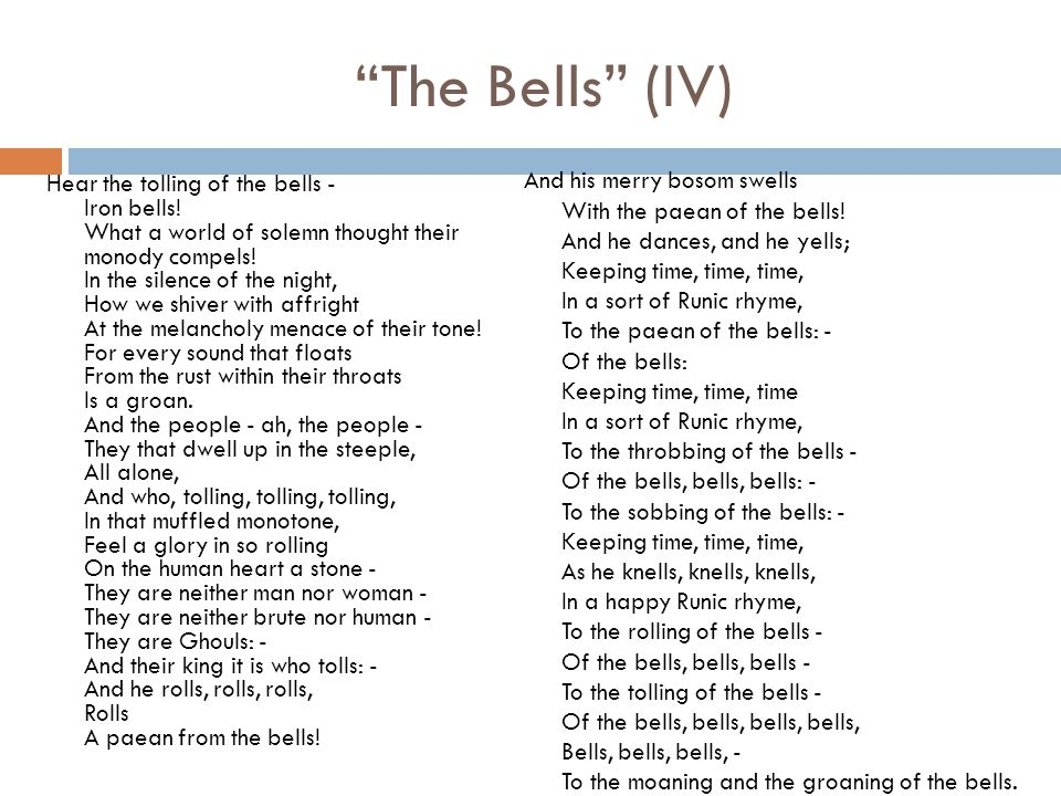 The Bells (IV)