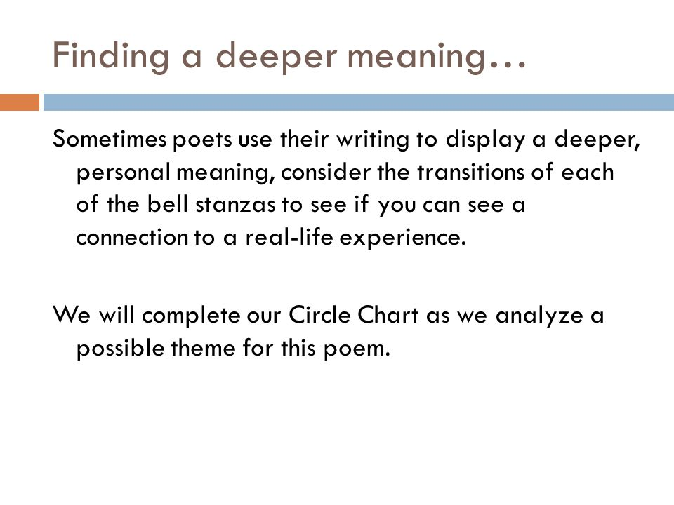 Finding a deeper meaning…
