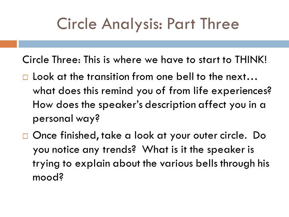 Circle Analysis: Part Three