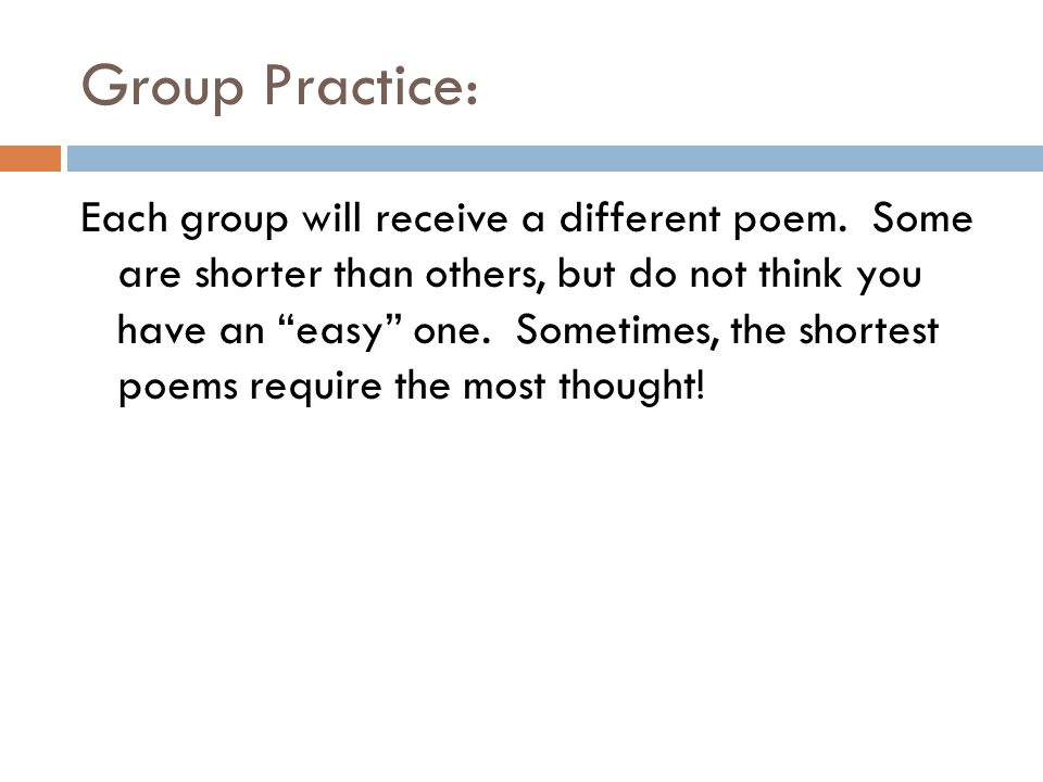Group Practice: