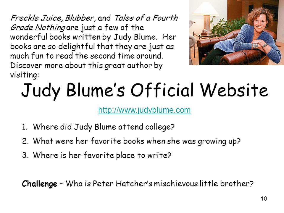 Judy Blume's Official Website