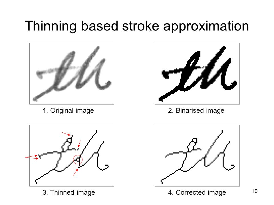 Thinning based stroke approximation