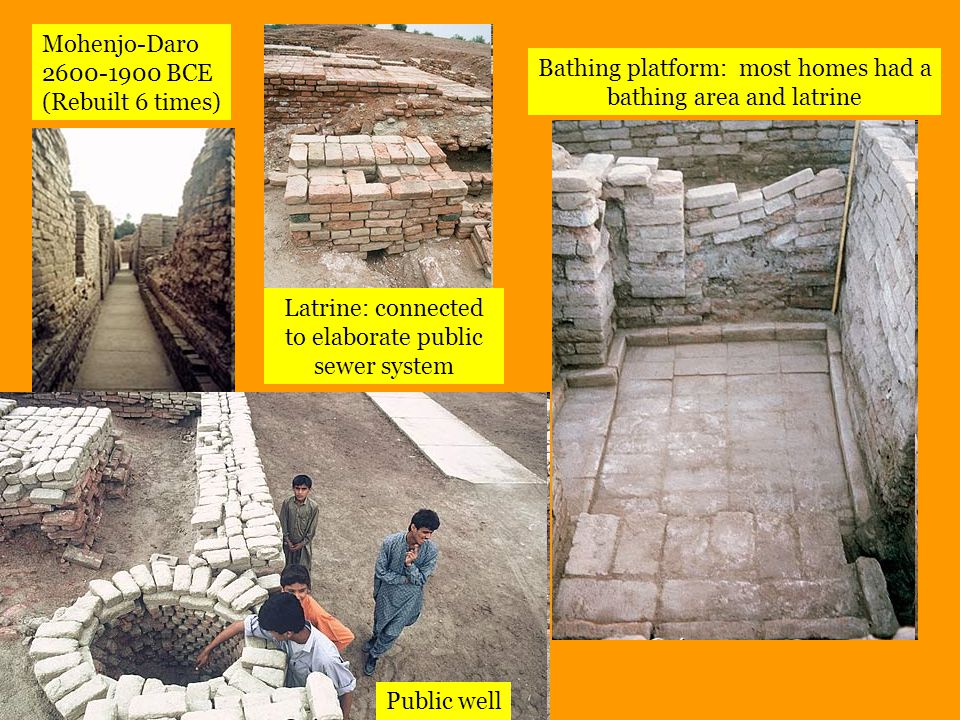 Bathing platform: most homes had a bathing area and latrine