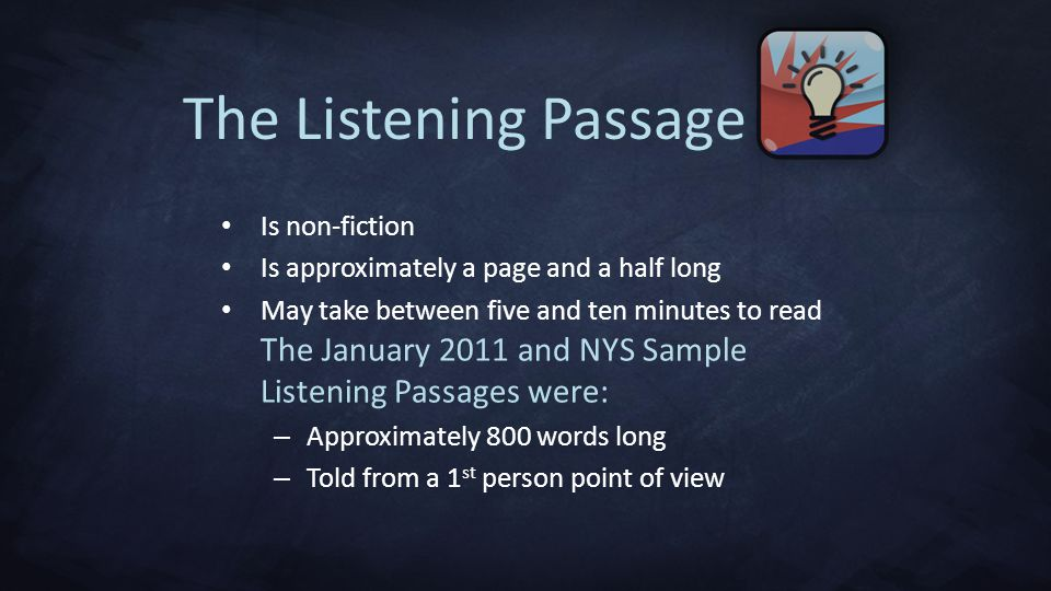 The Listening Passage Is non-fiction