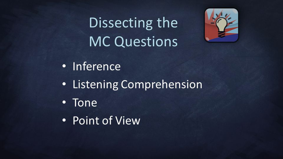 Dissecting the MC Questions