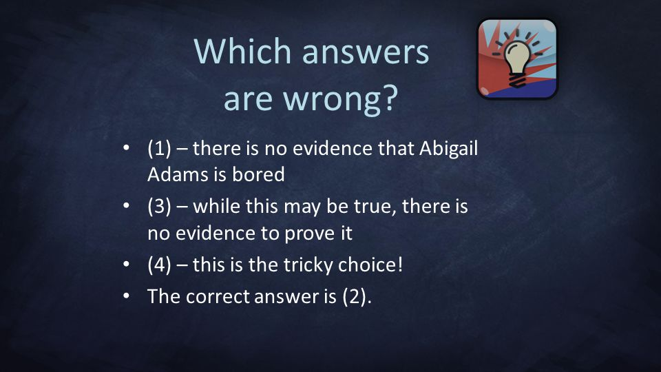 Which answers are wrong