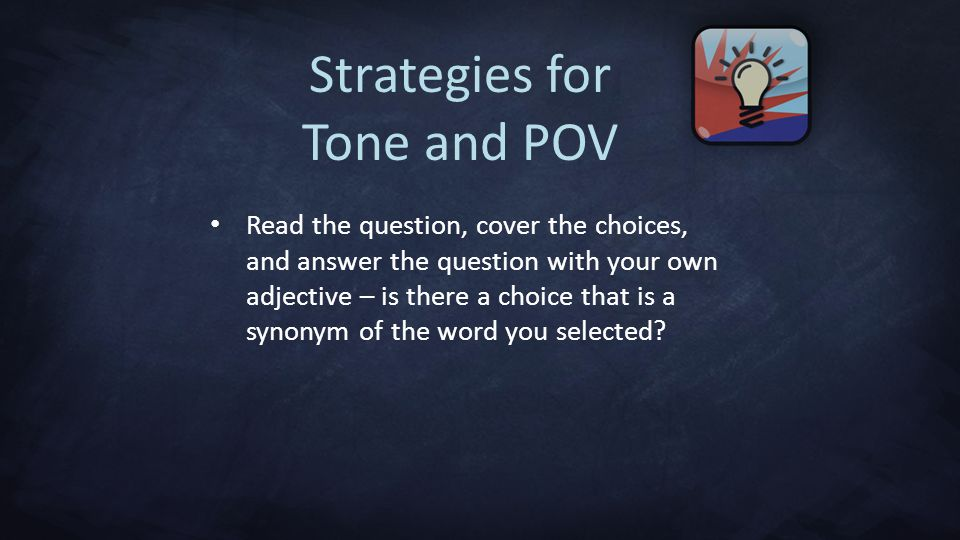 Strategies for Tone and POV