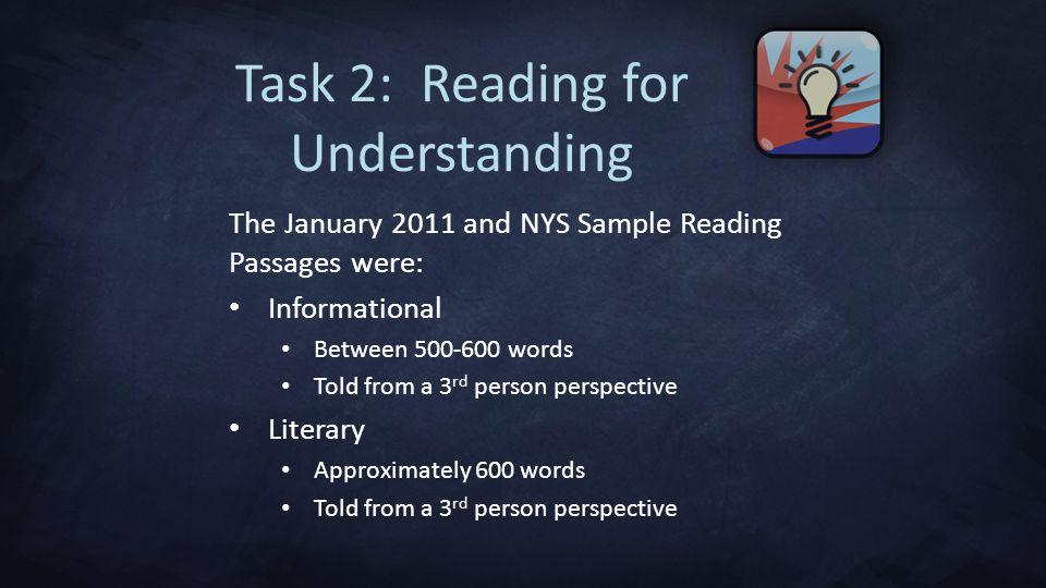Task 2: Reading for Understanding
