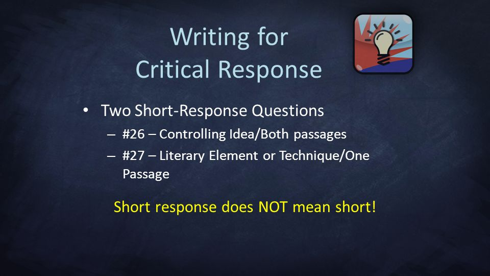 Writing for Critical Response