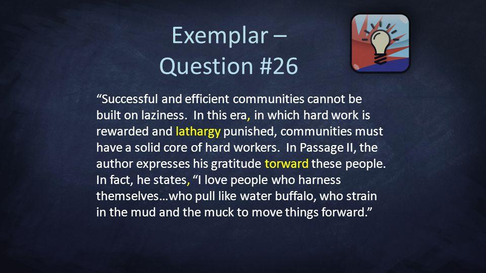 Exemplar – Question #26