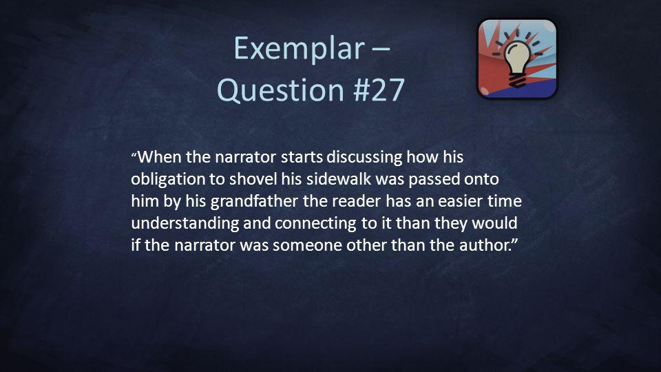 Exemplar – Question #27