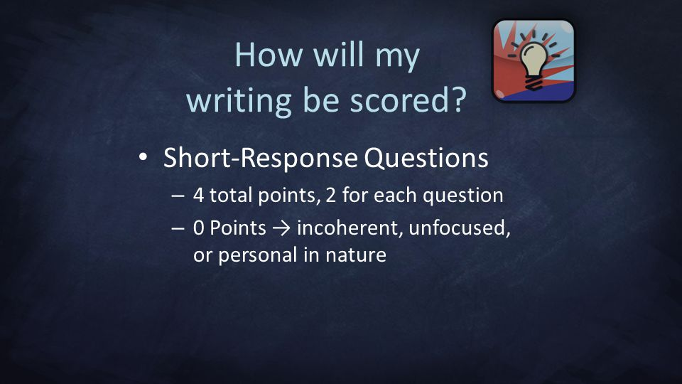 How will my writing be scored