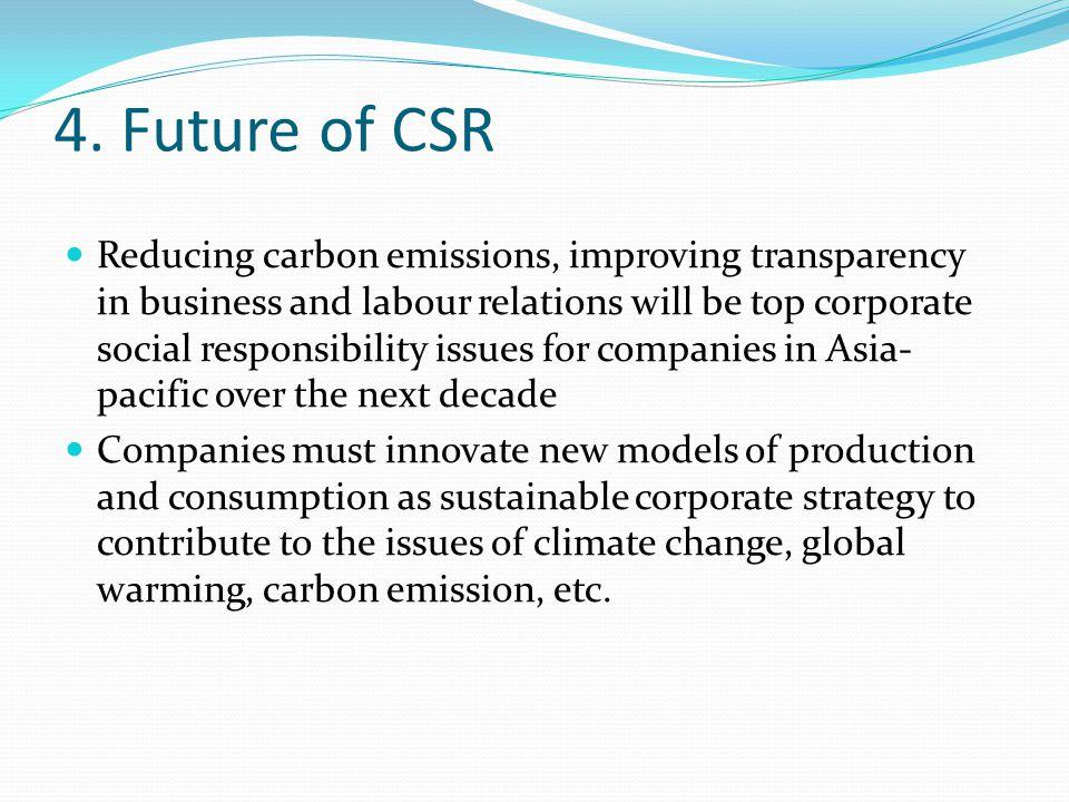 4. Future of CSR