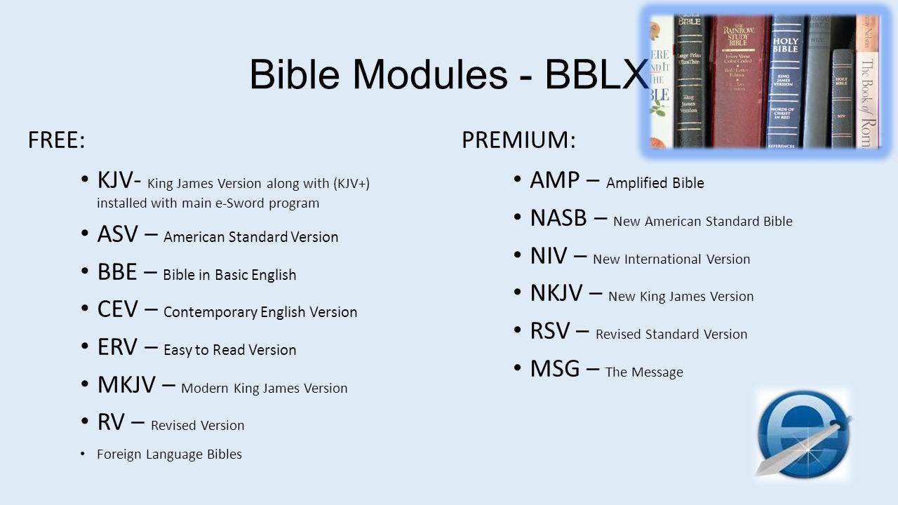 Bible Modules - BBLX FREE: PREMIUM: